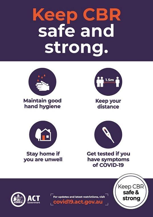 Manuka Oval COVID safe Poster 2