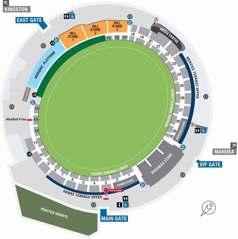 Manuka Oval Seating Plan
